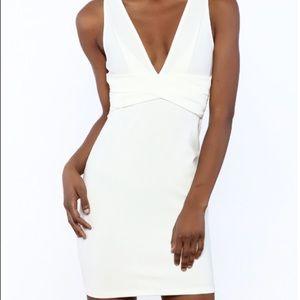 Solemio White Mini Dress